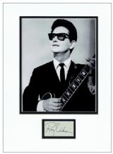 Roy Orbison Autograph Signed Display